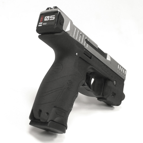 A Smart Slide in a HK. The screen is with the smart slide mode (5 bullets in the magazine & a bullet in the chamber)