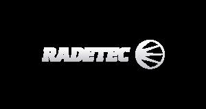 Radetec logo blanco